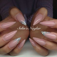 Light Pink Stiletto Acrylic Nails