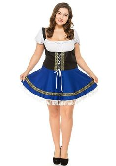 Free Shipping Deluxe Ladies Beer Maid Wench Costume Oktoberfest Octoberfest German Fancy Dress M L Xl Novelty & Special Use Women's Costumes
