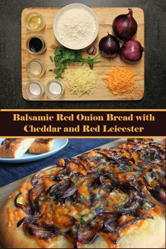 Balsamic Red Onion Bread with Cheddar and Red Leicester #cheese #bread #onion