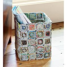 Recycled Basket using magazines
