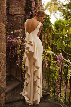 Valentina Gown from @BHLDN, every bride should have such an amazing photograph! Demure enough for the family to see but with a hint of what's to come #WishBigWinBigContest, #wedding, and #registry