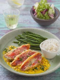 Filets de rouget sauce safranée – Best for You No Salt Recipes, Cooking Recipes, Healthy Recipes, Shellfish Recipes, Seafood Recipes, Seafood Appetizers, Salty Foods, Fish Dishes, Fish And Seafood