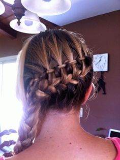 waterfall braid + french braid