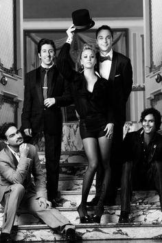 "shaquillefaith:  Johnny Galecki, Simon Helberg, Kaley Cuoco,Jim Parsons & Kunal Nayyar as seen in ""The Big Bang Theory""."