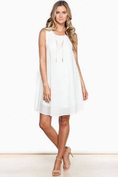 Pure And Simple Dress in White