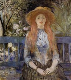 """One of """"les trois grandes dames"""" of Impressionism alongside Marie Bracquemond and Mary Cassatt, French painter Berthe Morisot was a painter and a member of the circle of painters in Paris who became known as the Impressionists. Pierre Auguste Renoir, French Impressionist Painters, Berthe Morisot, Mary Cassatt, Camille Pissarro, French Artists, Beautiful Paintings, Female Art, Les Oeuvres"""