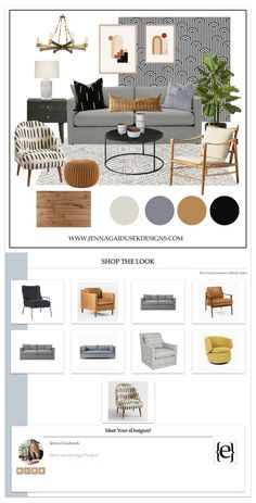 A shoppable Global Inspired, Modern Living Room — Jenna Gaidusek Designs