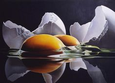 "Egg Islands - James Tormey (American, 1938),  1979, oil, 42"" x 48""  -- <3<3<3 James Tormey's eggs -- the light, reflections, & luminous shells. I see something new in the painting everyday"