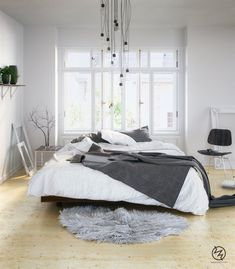 Home Designing — Scandinavian Bedrooms: Ideas And Inspiration