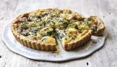 BBC - Food - Recipes : Stilton, spinach and new potato quiche with walnut pastry: pinning this for the easy walnut pastry recipe.