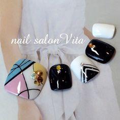 Pedicure Designs, Pedicure Nail Art, Toe Nail Designs, Toe Nail Art, Cute Toe Nails, My Nails, Feet Nail Design, Painted Toe Nails, Acrylic Toes
