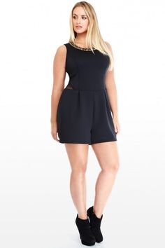 Plus Size Lace and Chain Romper | Fashion To Figure