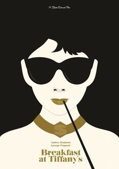 Audrey Hepburn Minimal Movie Poster by Matt Needle