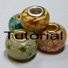 Create Pandora style polymer clay beads by daniellartspolyclay, $15.00