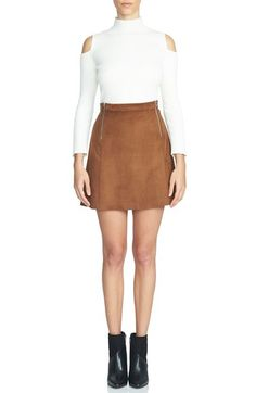 1.STATE Faux Suede A-Line Miniskirt available at #Nordstrom