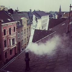 Über den Dächern vom Gründerzeitviertel, Gladbach/Eicken. MG anders sehen