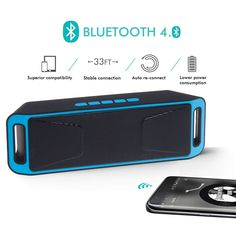 Mini Waterproof SUPER BASS Bluetooth Speaker Portable For iphone Android Tablet