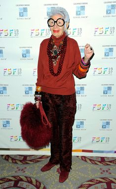 <b>Iris Apfel is fashion.</b> Apfel is an interior designer and a staple on the New York fashion scene.