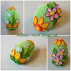 Quilling Hobby: Święta, święta i po świętach… Quilling Butterfly, Quilling 3d, Quilling Cards, Butterflies, Easter Egg Crafts, Easter Eggs, Crafts To Make, Arts And Crafts, Paper Quilling Patterns