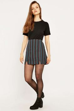 Urban Outfitters Over Scale Geo Slit Skirt