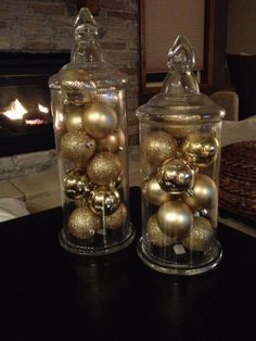 gold christmas decorations ideas