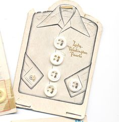 < ButtonShop.ca > great vintage button card