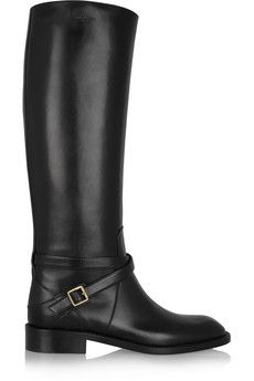 What about these gorgeous boots? Saint Laurent Cavaliere buckled leather riding boots | NET-A-PORTER
