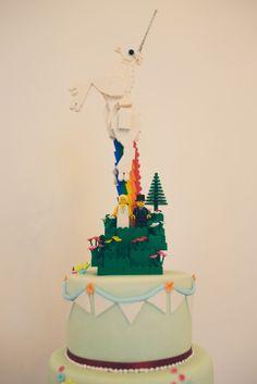 Tipi Wedding With A Rainbow Unicorn Wedding Cake: Abbie & Chris