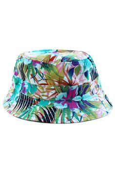 057a5543821 Rad Bucket Hat Floral Print Streetwear Fresh Dope Sick Fashion Radisrad  Teal Stylish Hats