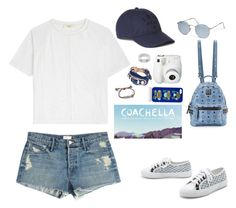 """""""Coachella outfit#2"""" by audreyf99 ❤ liked on Polyvore featuring Vanessa Bruno Athé, Mother, Ray-Ban, Superga, MCM, Cartier, Lacoste, Balenciaga, Polaroid and Markus Lupfer"""