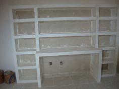 estante de gesso Drywall, Bookcase, Shelves, Home Decor, Plasterboard, Baby Room Girls, Homemade Home Decor, Toddler Girls, Bedroom Closets