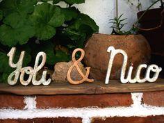 decoración para mesa de boda