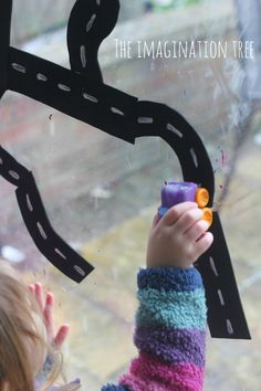 Make an easy and playful car driving activity using craft foam road-way pieces stuck to the window or bath tub! Fun gross motor skills play for toddlers. Motor Activities, Activities For Kids, Preschool Ideas, Imagination Tree, Gross Motor Skills, Foam Crafts, Homeschool, Curriculum, Kids Playing