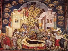 Icon of the Dormition of the Most Holy Theotokos. Comemmorated August 15th. The…