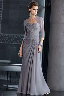 A-Line/Princess One Shoulder Floor-length Chiffon Mother of the Bride Dress