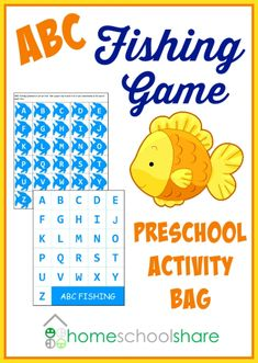 ABC Fishing Game Preschool Busy Bag Activity from Homeschool Share