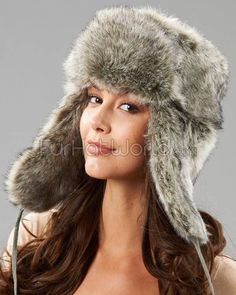 36dee9b1bf0 Shop FurHatWorld for the best selection of Women s Faux Fur Headwear. Buy  The Sochi Faux Fur Ladies Russian Hat in Grey by FRR with fast same day  shipping.
