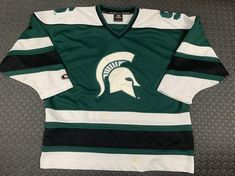 Michigan State Spartans, High Waist Jeans, Cool Shirts, Etsy Store, Hockey, Vintage Items, Windbreaker, Polo Ralph Lauren, Flaws