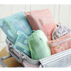 Women Portable Travel Clothing Storage Bag  Home Waterproof Mesh Wash Underwear Bag Factory Direct Travel Pouch Free Shipping US $6.88