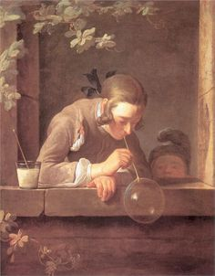 Page: Soap Bubbles  Artist: Jean-Baptiste-Simeon Chardin  Start Date: 1733  Completion Date:1735  Style: Rococo  Genre: genre painting  Technique: oil  Material: canvas  Dimensions: 93 x 74.5 cm  Gallery: National Gallery of Art