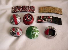 Polymer Clay Barrette for Loc's