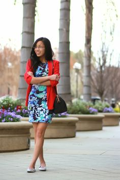 BOLD COLORS / Peter Pilotto for Target purple prints and red boyfriend blazer