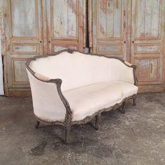 antique louis 15 style sofa