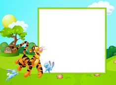 Cute Kids Transparent PNG Frame with Tigger​ | Gallery Yopriceville - High-Quality Images and Transparent PNG Free Clipart