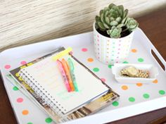 Polka dot tray in Crafts for decorating and home decor, parties and events