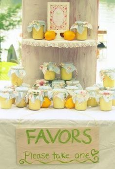 Shabby Chic Bridal Shower Party Favors