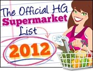 WOWOW!!! The 2012 Supermarket List is HERE... Pin this! Click this! HUG THIS!!! AHHHHH....