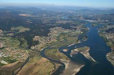 O esteiro do Miño - El estuario del Miño.