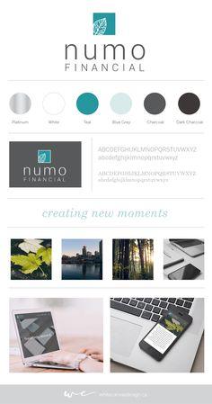 Logo, brand + identity for Numo Financial Inc. Vancouver | Design | Finance | Financial advisor | Teal | Platinum | Stationery | Wordpress Website | Business Card Business Advisor, Brand Board, Canvas Designs, Business Branding, Fashion Branding, Personal Branding, Brand Identity, Branding Design, Infographic