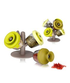 Very cool spice savers.  Green PopSome Herbs & Spices Set by Vacu Vin on #zulily today!